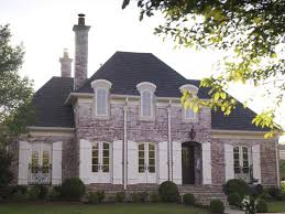 French Country Inspired Homes For A Rustic Look  Brick Wall Grey - French country home design