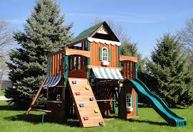 Metal Backyard Playsets by Have Fun This Summer With Swing N Slide Juneau Wood Complete Play