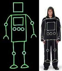 Glow Dark Halloween Costumes Glow Dark Stick Man Halloween Costume