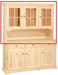 Unfinished Furniture Sideboard Unfinished Traditional Three Door China Hutch With Server Area