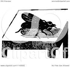 vintage martini clipart clipart of a retro vintage black and white fly on a table