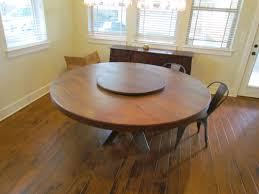 Top Custom Made Oak Round Table In Lazy Susan A Hand Made Oak - 60 inch round dining table with lazy susan