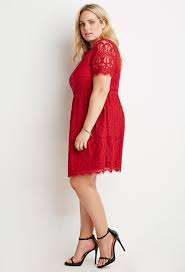 fit and flare dress forever 21 forever 21 plus size eyelash lace fit flare dress in lyst
