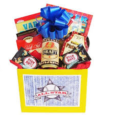 Mens Gift Baskets All Star Mens Gift Basket With Puzzle Books And Snacks Comes