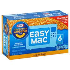 kraft easy mac original macaroni and cheese dinner 6 pk shop