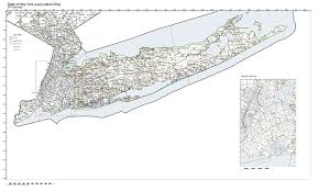 Long Island New York Map by Amazon Com Zip Code Map State Of New York Long Island Only