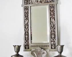 Mirror With Candle Sconces Mirror And Sconces Etsy