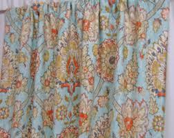 Bohemian Drapes Navy Blue Curtains Custom Bird Theme Curtain Panels Blue