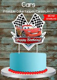 cars cake toppers cars cake topper disney cars printable cake topper lighting