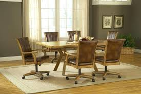 rolling dining room chairs casters for dining room chairs dining room chairs with casters