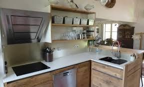 cuisine bois gris moderne cuisine bois et inox trendy cuisine bois cuisine