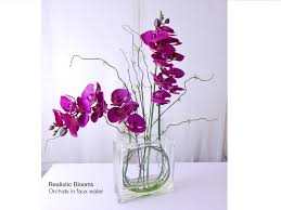faux orchids fuchsia purple silk orchid orchids phalaenopsis plant glass