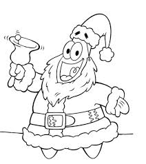 spongebob patrick christmas coloring pages u2013 happy holidays