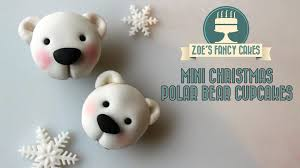 polar bear cupcakes christmas cake decorating tutorial how to make