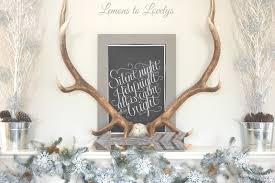 Hobby Lobby Christmas Deer Decor by Christmas 2015 Fireplace Mantle U2013 Lemons To Lovelys