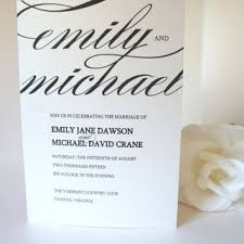 folded wedding program best modern wedding programs products on wanelo