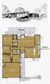 Live In Garage Plans by Build An Eichler Ranch House 8 Original Design House Plans