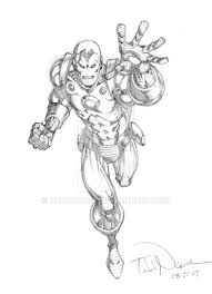 iron man pencil sketch by toddnauck on deviantart
