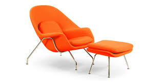 Orange Ottoman Womb Chair Ottoman Orange Kardiel