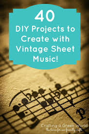 Sheet Music Decorating Ideas Projects To Create With Vintage Sheet