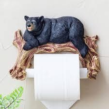 designer house shaped teak toilet paper holder bathroom