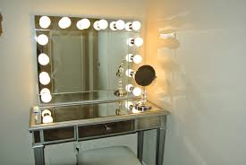mirrored vanity frame with light bulbs of mirror with lights