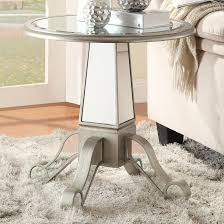 Mirrored Accent Table Silver Glass Accent Table Steal A Sofa Furniture Outlet Los