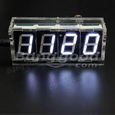 geekcreit diy 4 digit led electronic clock kit temperature light