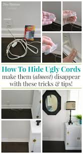 how to hide and organize unsightly cords lamp cord cords and cord