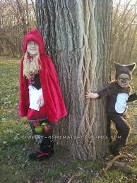 Cute Ideas For Sibling Halloween Costumes Red Riding Hood Cape Is Handmade And The Wolf Total Diy Costume
