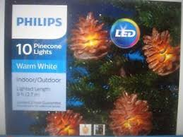 philips pine cone string lights philips christmas led sugared pinecone lights string lights 10 new