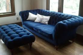 kimber u0027s dreams of a blue velvet sofa apartment therapy