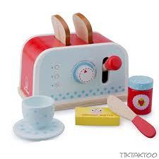 toaster kinderküche toaster aus holz 8 tlg holzspielzeug kinderküche spielküche