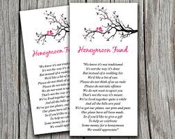 honeymoon fund bridal shower wedding registry honeymoon fund wording
