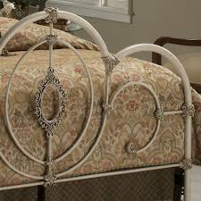 victoria ornate iron bed in antique white humble abode