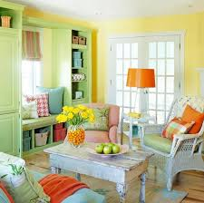 Yellow Livingroom Living Room Colorful Mediterranean Living Room Interior Design