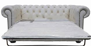 White Leather Sofa Bed Uk Buy 2 Seater White Leather Chesterfield Sofa Bed
