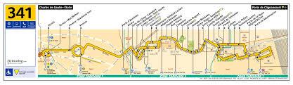 Charles De Gaulle Airport Map Ratp Route Maps For Paris Bus Lines 340 Through To 349