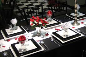red and white table decorations for a wedding black and red table settings red and black reception table setting