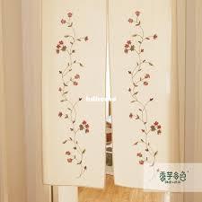 Kitchen Curtain Fabrics 2017 Japanese Style Curtain Fabric Taro Rustic Lu Embroidery