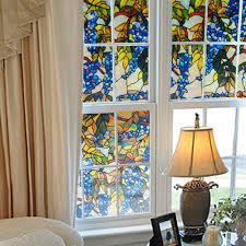 decorations small space living room with stained glass window