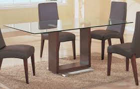 white glass rectangular dining table and 4 chairs glass