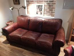 Lazy Boy Leather Sofa by Lazy Boy Brown Leather Sofa With Brass Tacks Victoria City Victoria