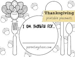 thanksgiving placemat delighted thanksgiving placemat template gallery exle