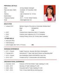 exle of cv resume resume format sle cv format cv resume application letter