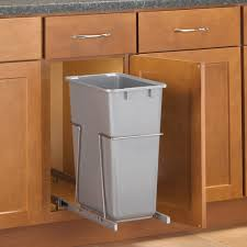 pull out built in trash cans cabinet slide under sink kitchen with