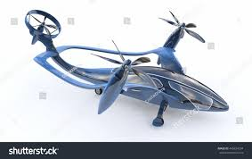 futuristic flying cars personal air vehicle flying car future stock illustration