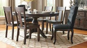 Round Dining Sets Trudell Rectangular Dining Set U2013 Jennifer Furniture