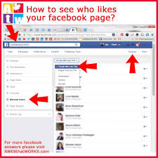 how do i see who likes your facebook page awebthatworks