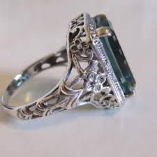 vintage sterling rings images Best antique emerald rings products on wanelo jpg